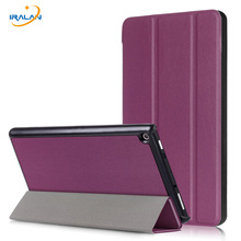 Ultra Thin Smart Stand Case For Amazon Kindle New Fire HD 8 2017 PU Leather Magnetic Flip Protective Skin Cover+screen film+pen(China)