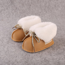 2016 Winter pu leather baby boy snow boots for girl Newborn warm shoes infant toddler soft sole First Walkers booties brand