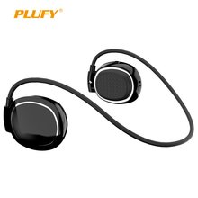 Plufy Wireless Bluetooth Earphone Sport Stereo Headset Noise Cancelling Ear Hook Headphone with MIC for iphone Android Phone L68(China)