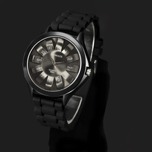 Top Luxury Brand WOMAGE Fashion Steel Floral Chrysanthemum Dial Lady Rubber Jelly Band Gift Relogio Feminino Women Dress Watches