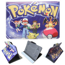 Pokemon GO Pocket Monster Protective Leather Stand Cover Case for Chuwi Vi7 Android 5.1 3G Phablet 7 inch Quad Core Tablet PC