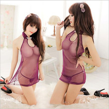 Retro Chiffon Chinese cheongsam New COSPLAY Sexy lingerie women costumes Sex toys Sexy underwear Role play Free shipping