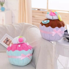 35*25cm Simulation  Ice Cream Shape Plush Pillow Stuffed Plush Toys Home Decor Wedding Valentine Gifts for Children