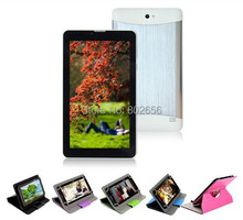 Tablet 2G/3G Phone call 7 inch  MTK6572 Dual SIM/camera/Core+Bluetooth+512MB/4GB+Android 4.2 tablet free shipping Big discount