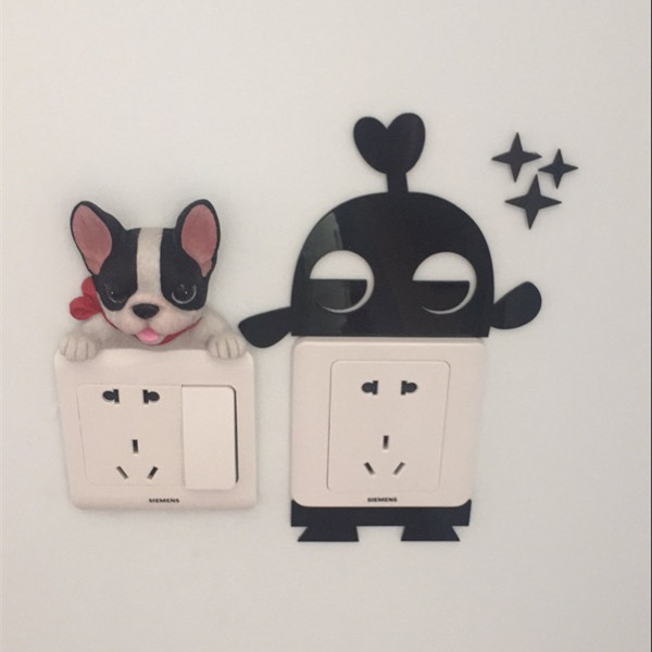 French Bulldog cute puppy dogs resin switch stickers fridge magnets - Buyer's Show 228