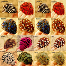 Wholesale Feather hair fascinator clip women hair ornaments headdress flower hair accessories handmade fascinator alligator clip