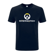 2017 Hot gamer fashion printing tee shirt gift for boyfriend OW LOGO t shirt watch over men's tee shirt more size and color