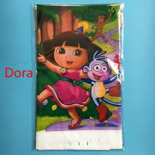 1pcs 1.8*1.08m cartoon Dora theme PE Table Cloth for kids birthday party decoration tablecover