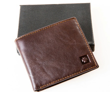 50pcsMRF1 NEW  new stylish RFID BLOCKING Men wallet+ genuine cow Leather + Bifold Purse with coin pocket+ RFID protection