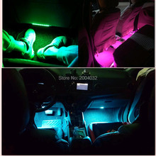 high quality CAR Interior LED atmosphere lamp FOR volkswagen polo GOLF JETTA SEAT LEON peugeot 407 508 skoda rapid accessories