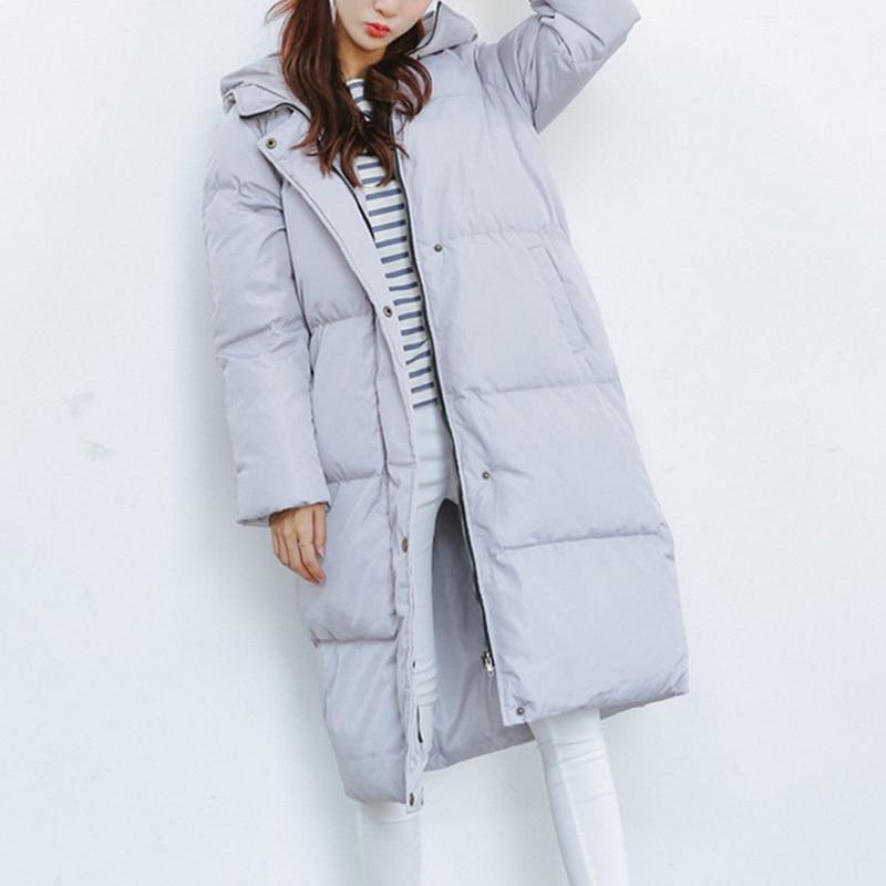 2017 Women Warm Winter Coat Loose Long Parka Casual Outwear Gray BlackÎäåæäà è àêñåññóàðû<br><br>