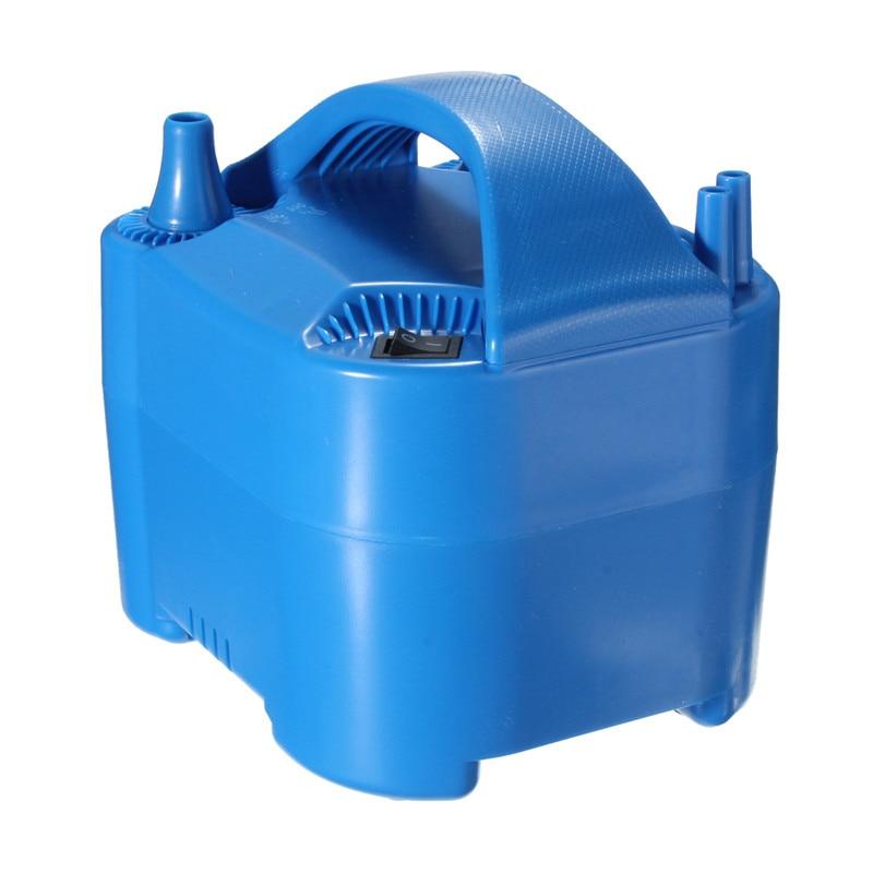 Electric Balloon Inflator Pump Air Blower 2 Nozzle High Power Blue Portable 50Hz 2A 220V-240V (EU plug) 15x16x17cm<br><br>Aliexpress