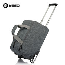 YESO Trolley Travel Bag Hand Luggage 20 inch 32L Rolling Duffle Bags Waterproof Oxford Suitcase Wheels Carry On Luggage Unisex(China)