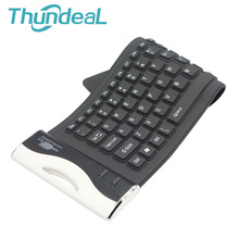 84Key Mini Keyboard Waterproof Washable Silicone Foldable Flexible Keyboard USB Keypad Teclado for Window 7 8 Tablet PC Laptop