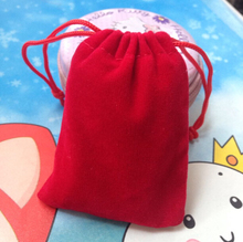 SPECIAL SALE 15pcs/lot) 7x 9 cm red velvet jewelry bag velvet pouch bag jewelry for gift earing jade necklace watch(China)