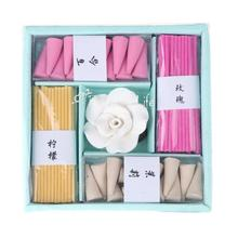 Stick Cone Incense Fragrance Box Chinese Incense Fragrance Set Gift Fresh Air Aromatherapy Incense Spice for Sleeping Toilet(China)