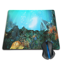 Animals Marine Reefs Shell in Ocean Beach Personalized Mouse Pad Laptop PC Computer Rectangle Rubber Durable Gaming Mouse Mat