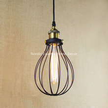 Nordic American country style glass light Iron Industry Network Rail hall living room restaurant hotel decorative bar cafe lamp(China)