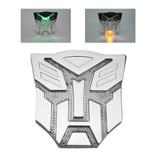 Car Styling Solar energy Stereoscopic Aluminum 3D Car Stickers Car Styling Logo Autobot Cool Emblem Badge Graphics Decal(China)