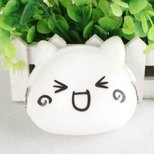 Hot Sale Zero Wallet Women Girl Cartoon Lovely Expression Money Bag Silicone Mini Cute Coin Purse JS0041