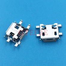 10pcs Micro USB 5pin 0.72mm Connector B type have curling side Female Jack For Mobile Mini USB repair mobile tablet MINI USB 5P
