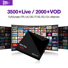 Smart Android 7.1 TV Box 1G+8G Italian Set-top Box with arabic SUBTV 3500+Live Sport Channel iptv subscription 1 year Europe STB