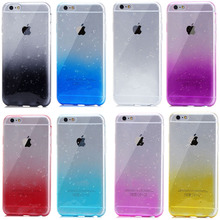 Semi-transparent Colorful Shell 3D Raindrops Waterdrop Silicone TPU Case For IPhone 5 5s 6 6s Plus 7 7Plus For IPhone Case