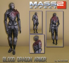 Mass Effect 2 Blood Dragon Armo 3D Paper Model(China)