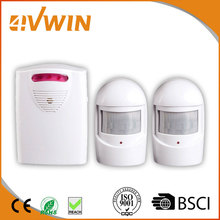 Wireless IR Infrared Motion Sensor Alarm Security Detector Home System 1 Receiver and 2 PIR Motion Sensor Detector Alert System