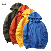 Mens Fashion Hoodies 2017 New Autumn Hip Hop Fleece Tracksuit Hoodie Winter Hooded Sweatshirt Streetwear Solid Pullover Clothing(China)
