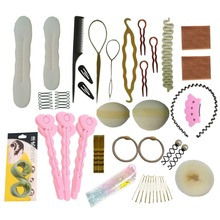 Furling New Blonde Hair Tools Blonde Bun Maker Hair Styling Accessories Braiding Twist Tool for Women Free Shipping