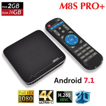 M8SPRO+ TV Box High Speed Quad-core 1GB DDR3 + 8GB eMMC Flash TV Box 2.0GHz Video Media Player For Android 7.1(China)