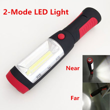 Super Bright COB LED Flashlight Worklight Torch Work Stands Light Magnetic Tent Lamp + HOOK for Outdoor Travel Night Riding