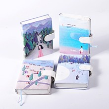 Cute Kawaii Stationery Leather Notebook Blank colour pages Sketchbook Hand Books Diary Planner Agenda Journal Travelers Notebook(China)