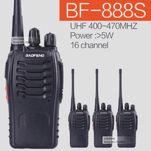 4PCS/lot BaoFeng BF-888S Handheld Transceiver UHF 5W 400-470MHz 16CH Cb Radio Two Way radio Walkie Talkie(China)