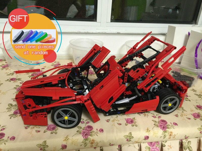 Bela 9186 1359pcs Technic ENZO 1:10 Supercar Car Model Building Block Educational Construction compatible with 8653 toys lepin<br>