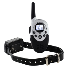 1100 Yard Waterproof Vibra Remote Small Med Large Dog Shock Training Collar PT0351-PT0352
