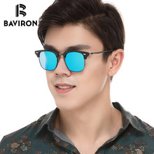 BAVIRON 2018 New Arrival Acetate Sunglasses Metal Hand Making Polarized Glasses Unisex Retro Sun Glasses Fashion Eyewear 8057(China)