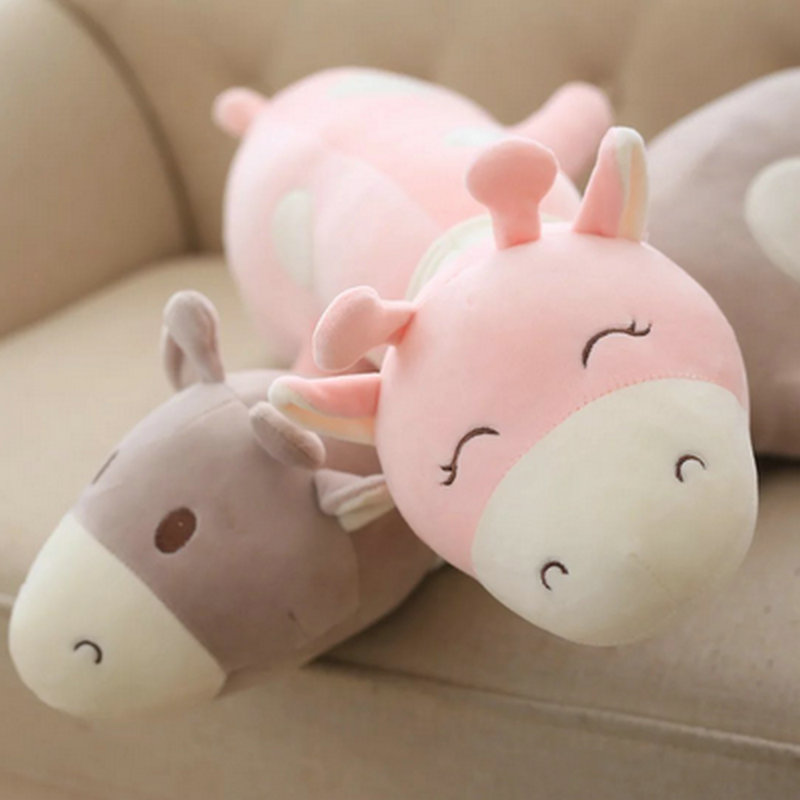 kids doll pink/gray Cute Deer Plush Toys 43cm Stuffed Soft comfy plush pillow Cushion Baby pacify Doll For Children <br><br>Aliexpress