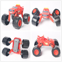 Hot Single Sale Russia Blaze Pick Zeng Racin Deformation Long Leg Car Mini Model Russian Cartoon Toys Best Gift for Collection(China)