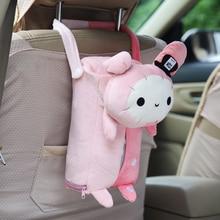 Car Tissue Box Animal Paper Holder Case Pouch Plush Cute Home Office Auto Decoration Napkin Container Interior Accessoreis