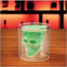 200Ml Thick Double Glass Crystal Skull Head Vodka Whiskey Shot Glass Cup Drinking Ware For Bar Wine Cup YL676370