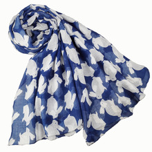 [Visual Axles] Soft  Lightweight Fashion Ladies Animal Print Cutely Rabbit Oblong Scarf