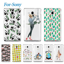 Fashion Young Soft Phone Case For Sony Xperia SP M35h C5302 C5303 Lovely Silicone Soft TPU Cover Cases For Sony Xperia SP