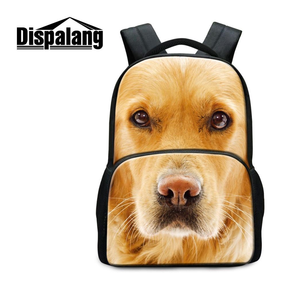Dispalang Women Big Backpacks Animal Printing School Bags For College Student Dog Cat Travel Laptop Shoulder Bag Mochila Bolsas<br>