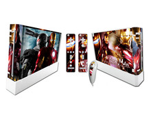 Iron Man Vinyl Decal Skin Stickers For Wii Game Console + Controller Skins For Wii