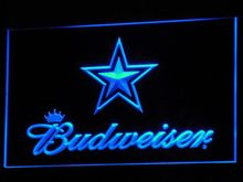 b274 Dallas Cowboys Budweiser Bar LED Neon Sign with On/Off Switch 20+ Colors 5 Sizes to choose(China)