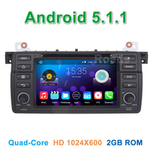 1024*600 Quad core Android 5.1.1 Car DVD Player for BMW 3 Series E46 M3 Rover 75 MG ZT with GPS Radio WiFi BT