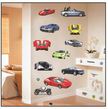 Wall Stickers Car Model Removable Decals Nursery Kids Room Home Decoration For Boys Bedroom J2Y