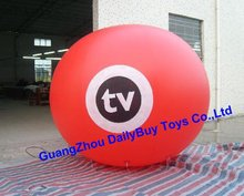 HB01 0.18mm Thickness PVC  Helium balloon  Advertising balloon/sky balloon New  red color 2m 6.6ft